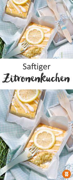 Saftiger Zitronenkuchen, Kuchen, Kaffeeklatsch, Sommer, Desser   Weight Watchers