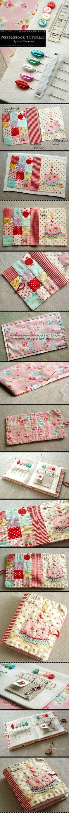 needlebook tutorial | libro per gli aghi | #tutorial #DIY #cucito #sewing #crafting