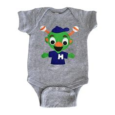Astros Orbit Inspired - Gray Baby Bodysuit - Children's Clothing - Gift by micielomicielo on Etsy