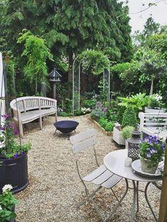 Home Garden Design, Backyard Garden Design, Small Garden Design, Patio Design, Backyard Landscaping, Landscaping Ideas, Backyard Pools, Backyard Ideas, Small House Garden