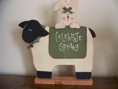 Celebrate Spring Primitive Sheep With Bunny by MondaysChildPrims, $15.00
