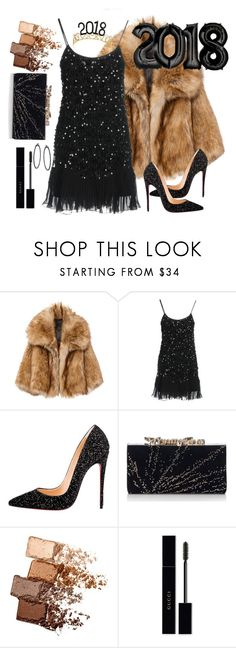 """""""Untitled #225"""" by li-sa-mrie ❤ liked on Polyvore featuring RED Valentino, Christian Louboutin, Jimmy Choo, Maybelline and Gucci"""