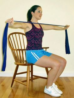 wheelchair arm exercises   ... resistance band workouts in chair at work workout exercise fitness