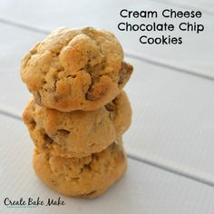 I am going to warn you right from the start - these Cream Cheese Chocolate Chip Cookies are so good that I just had to box them up and send them into work with my husband to stop me from eating them all. They are so good, they I even found myself hiding in the pantry to eat one just so I didn't have to share them with the boys - yep I do have a problem