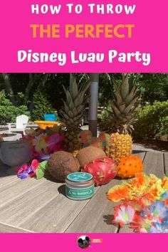 All the details on how we threw an unbeatable Disney Luau Party.  All the details on the food, decorations and outfits included! Disney Party Games, Disney Activities, Disney Parties, Luau Theme, Luau Party, Things To Do At Home, Fun Things, Disney Diy Crafts, Polynesian Resort