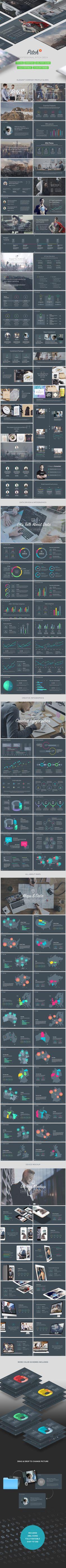 Pitch 3  Professional Pitch Deck Keynote Template — Keynote KEY #social media #tech • Download ➝ https://graphicriver.net/item/pitch-3-professional-pitch-deck-keynote-template/20321974?ref=pxcr