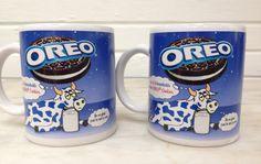 vintage Oreo Cookie mugs set of 2 coffee tea cups Kraft Foods, #31521 by MotherMuse on Etsy