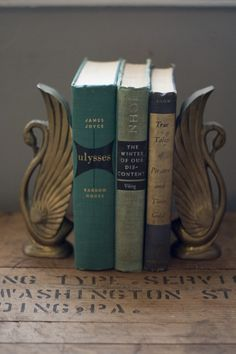 Vintage Swan Bookends $58.00