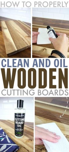 How to clean, oil, and maintain a wood cutting board.