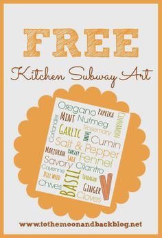 Kitchen Subway Art {Free Printable!}