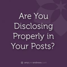 how to disclose sponsored posts