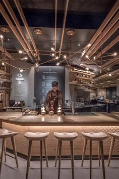 Learn how Starbucks designed its space with SketchUp. Learn how Starbucks designed its space with SketchUp. Beautiful Kitchen Designs, Beautiful Kitchens, Commercial Furniture, Commercial Interiors, Restaurant Design, Restaurant Bar, Cafe Design, House Design, Cafe Interior