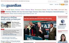 The Guardian classic website