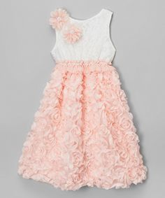 Look at this #zulilyfind! Jolene Canada White & Rose Petal Dress - Infant, Toddler & Girls by Jolene Canada #zulilyfinds