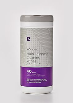 Let's get down and dirty. Clean up with the Multi-Purpose Cleaning Wipes by Modere.