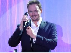 """Russell Watson on stage at Warner Leisure's """"Star Break"""" at Sinah Warren, Hampshire, 6th April 2014."""