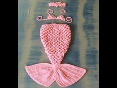 Móc váy đuôi cá bằng len P2 - YouTube