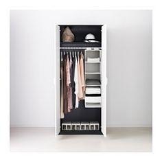 ASKVOLL Roupeiro - preto/branco - IKEA