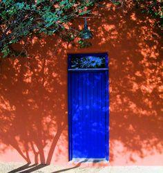 Blue Door in Shadow Barrio Viejo Tucson
