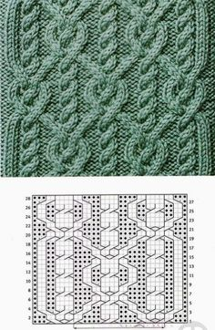 maria hierro's media content and analytics Cable Knitting Patterns, Knitting Charts, Lace Knitting, Knitting Stitches, Knit Patterns, Stitch Patterns, Crochet Cable, Crochet Motif, Knitting Projects