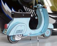 Scooter Paper Model - by Scooter Swag - Lambreta      Model Assembled and Photo by Scooter Swag    --    In this website you will find two nice paper models of Scooters.