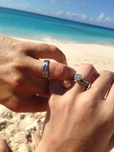 Honeymoon pictures of our rings in Cat Island, Bahamas