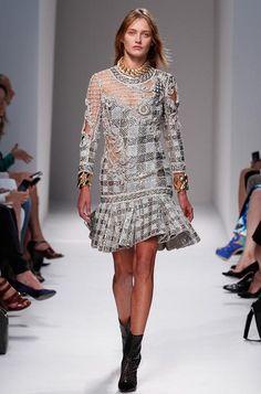 Balmain Spring 2014 Ready to Wear Paris Fashion Week