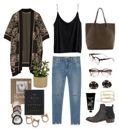 Untitled #448 by the59thstreetbridge on Polyvore featuring H&M, Anna Sui, Zara, Free People, Madewell, STELLA McCARTNEY, TokyoMilk and Threshold