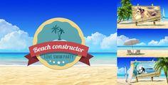 Summer Beach Video Displays. Vacation Travel Theme