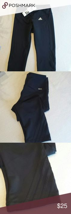 Adidas Performance Tights Stay dry, and comfortable. Climate version of Adidas tights offer great compression while keeping your body dry by drawing sweat away from your skin. 3/4 Comfortable! Adidas Pants