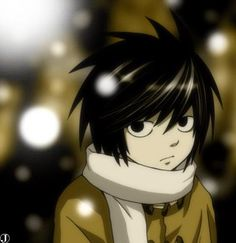 L Death Note. Awwww! He was so cute as a little kid. I really wanted more of a back story for him