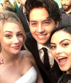 "When Lili, Camila, and Cole took a red carpet selfie. | 27 Times The ""Riverdale"" Cast Were Completely Adorable IRL"