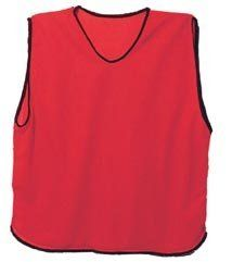 Scrimmage Training Vests Soccer Bibs Adult Set of 6 (Red) by SS. $15.99. Order the six vests and you will be ready for any situation. These mesh scrimmage vests are made of very durable fabric and are very light.