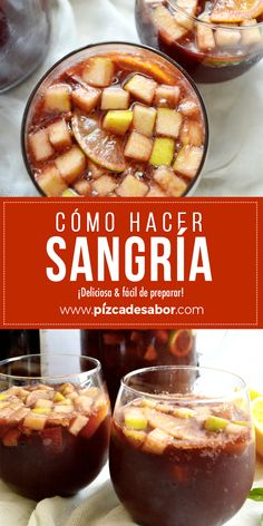 How to make sangria- - Frozen Drink Recipes, Sangria Recipes, Frozen Drinks, Milk Shakes, Good Food, Yummy Food, Cooking Recipes, Healthy Recipes, Alcohol Recipes