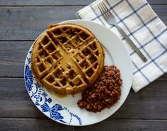 Buttermilk Banana Bread Waffles (gluten free, vegan)