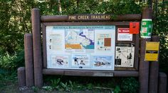 Pine Creek Trail Head.