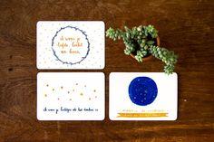 Set of three handdrawn cards 'Lichtjes' (A6)