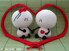 Very cute and great for Valentine. The pattern is free on Topysworld.com