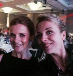 Loo Brealey and Amanda Abbington at the TV Choice Awards 9/8/14
