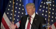 """AUGUST 15, 2016 Donald Trump Foreign Policy Speech in Youngstown Republican presidential nominee Donald Trump spoke about foreign policy at Youngstown State University. In his comments Mr. Trump said he wants to work with NATO to combat terrorism, a change from previous comments in which he called NATO """"obsolete and as president would consider pulling the U.S. out of the alliance. He also said he would create a commission to combat radical islam, and among the commission's duties would be…"""