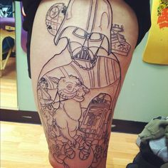 Outline of my #starwars #tattoo