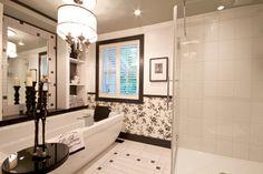 Hotel Chic contemporary bathroom