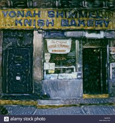Download this stock image: Yonah schimmel knish bakery. 2003 Polaroid sx70 scan. Famous Jewish Kosher Deli and Bakeries. - hw297n from Alamy's library of millions of high resolution stock photos, illustrations and vectors.