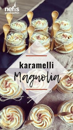 Caramel Magnolia - Yummy Recipes - # Karamelli Magnolia – Nefis Yemek Tarifleri – Caramel Magnolia – Delicious Recipes – # the to the - Banana Pudding Recipes, Brownie Recipes, Yummy Recipes, Yummy Food, Magnolia Bakery Banana Pudding, Dessert In A Mug, How To Make Caramel, Tapas, Yummy Cakes