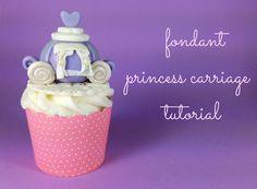 Pecite Happy: Princeza Tematski fondantom udžbenik - princeza Carriage