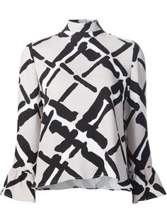 Shop Derek Lam ruffle sleeve blouse in Forty Five Ten from the world's best independent boutiques at farfetch.com. Shop 400 boutiques at one address.