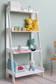 This contemporary Standing Shelf Unit is essential for any child's bedroom. Decked out with four spacious shelves, the piece provides stylish storage for your little one's bits and bobs. #shelf #kidsstorage #kidsfurniture #shelving Kids Bedroom Storage, Hallway Storage, Shelves In Bedroom, Ikea Storage, Storage Spaces, Wall Shelf Decor, Wood Wall Shelf, Funky Bedroom, Childrens Bedroom Furniture