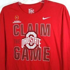 Nike Ohio State Buckeyes OHS Claim The Game Championship T Shirt XXL NCAA #Nike #GraphicTee #OhioStateBuckeyes