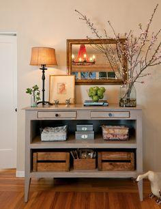 sideboard set up