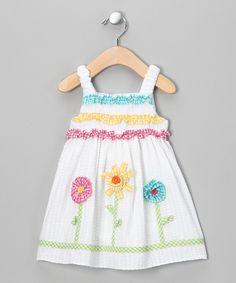 Pastel Flower Seersucker Sundress  - cute detailing